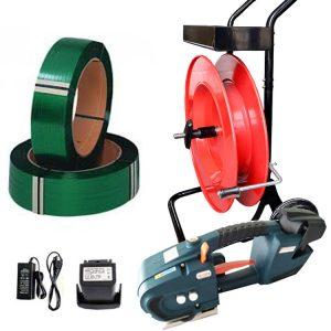TES Aku páskovací set PET viazacia páska + odvíjač + batéria + nabíjačka