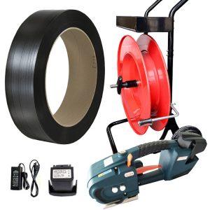 Páskovacia sada TES PP viazacia páska + odvíjač + batéria + nabíjačka