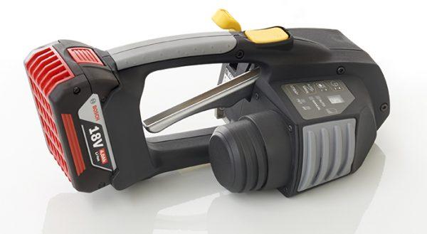 Messersi MB620 ručný páskovač 12-16mm akumulátorový páskovač na PET a PP viazaciu pásku s batériou a nabíjačkou 2