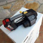 MB820 akumulátorový páskovač 16-19mm na PET a PP viazaciu pásku s batériou a nabíjačkou 3