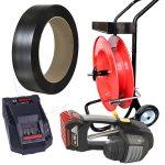 Ručný akumulátorový páskovač MB620 PP viazacia páska + odvíjač + batéria + nabíjačka